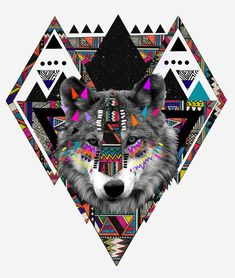 Patterns of Nature by Kris Tate.  Naturally I picked this one because of the Wolf. And the triangles.