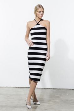Alena Savostikova #fashion #dress #clean #chic #ss15 #blackandwhite #minimal #look #style  #model #photography
