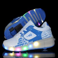 Men's Shoes 2018 New Fashion Adult Led Shoes Mesh Breathable Men Shoes Printing Lace-up Glowing Lovers Sneakers Big Kids Shoes Size 36-44 Volume Large Shoes