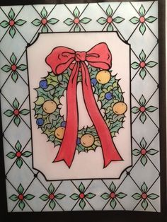 Abby 12 18 Division From Christmas Cheer Stained Glass Coloring Book Storedoverpublications 0486479366