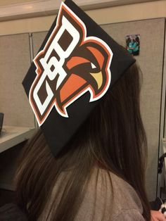 Use your BGSU logo that you should have received to decorate the mortarboard on your graduation cap
