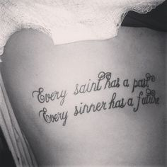 Oscar Wilde quote tattoo love it, but different type of letters