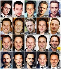 """theonewiththevows:""""The Evolution of: Andrew Lincoln"""" Rick Grimes Walking Dead, Carl The Walking Dead, Daryl And Rick, Walking Dead Tv Show, Andrew Lincoln Young, Andy Lincoln, Funny Friday Memes, Friday Humor, Funny Memes"""