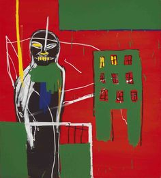 Jean-Michel Basquiat (American, 1960-1988), Pedestrian 2, 1984. Acrylic and oilstick on canvas, 153 x 137 cm.