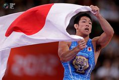 Day 16 - Japan's Tatsuhiro Yonemitsu celebrates his victory on the Men's 66Kg Freestyle wrestling at the ExCel venue during the London 2012 Olympic Games. TORU HANAI/REUTERS