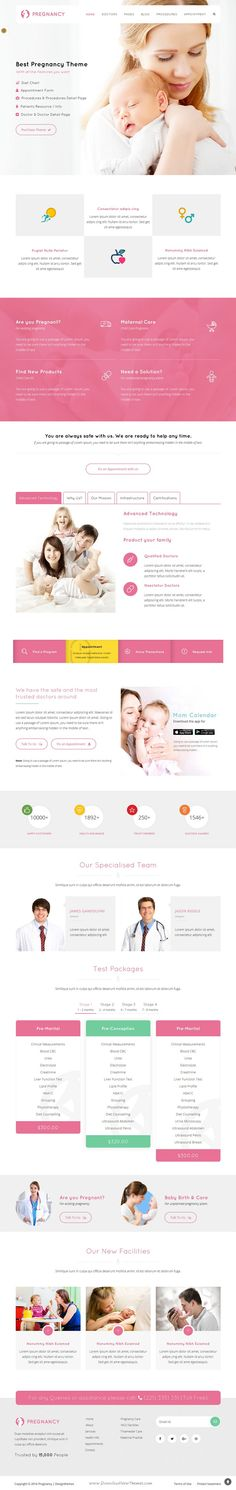 #Pregnancy is an elegant Health and #Medical Business WordPress #Theme best…
