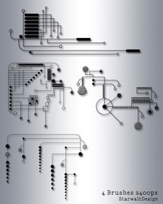 Really like this one, as a way of turning circuitry into nice patterns.