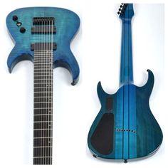 Agile Septor Elite 827 EB EMG Oceanburst Flame DOT 8 string guitar