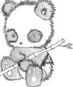 Cute Love Drawings | Cute Panda Drawing by SpikeMcFly