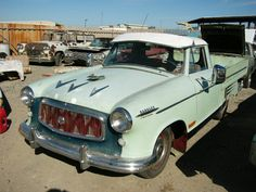 '60 Rambler American pickup with well decorated hood_$2,000
