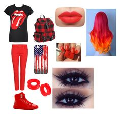 """""""Rolling Stone Red"""" by amberthearle on Polyvore featuring ALDO, Aéropostale, Casetify and Alexander McQueen"""