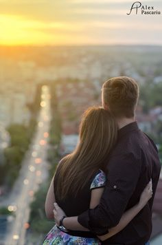 Engagement sunset view
