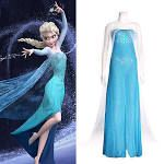 Elsa cosplay dress in adult sizes on Ebay for $9:50   I want!