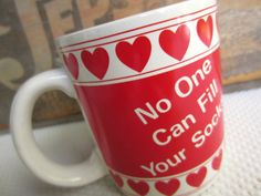 Vintage No One Can Fill Your Socks Coffee Mug by corrnucopia