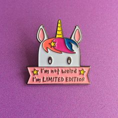 I'm Limited Edition Unicorn Enamel Pin (€8,31) ❤ liked on Polyvore featuring jewelry, brooches, unicorn jewelry, pin brooch, enamel jewelry, unicorn jewellery and pin jewelry | Beautiful Cases For G
