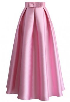 With each smooth step you take, all eyes are drawn to the soft sheen of your pleated maxi skirt! The floor-length silhouette and beautiful hues of this maxi beauty ensure a line of compliments as lengthy as the suitors you'll have pining for the next dance.  - Bow decor on waist - Back zip closure - Not lined - 100% Polyester - Machine washable  Size(cm) Length Waist XS       98    64 S        100    68 M        100    72 L         102    76 ...