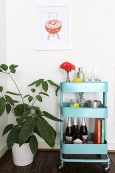 5 things to do this weekend! RASKOG cart from Ikea turns bar cart..love it. http://blog.mydiab.com/