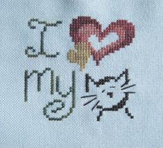 I Love My Cat by Brittercup Designs