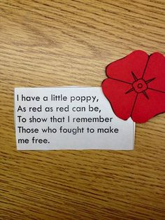 Memorial Day Veterans Day Poppy - B-after Remembrance Day Activities, Veterans Day Activities, Remembrance Day Poppy, Remembrance Poems, Memorial Day Activities, Music Activities, Creative Activities, Holiday Activities, Toddler Activities