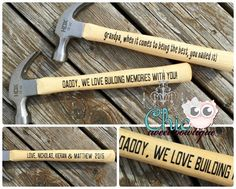 Personalized Hammer with message Father's Day gift #ad