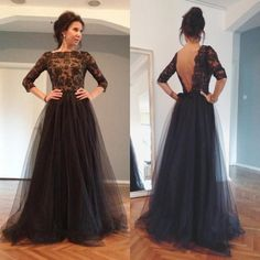 Cheap Substantial Prom Dresses Backless Elegant Scoop Sleeves Lace Long Backless Black Evening/Prom Dress With Beading Prom Dress, Lace Black Prom Dresses, Evening Dresses Black, Prom Dresses Backless, Lace Evening Dresses Prom Dresses 2019 Royal Blue Prom Dresses, Prom Dresses 2016, Backless Prom Dresses, Black Prom Dresses, Tulle Prom Dress, Prom Party Dresses, Dress Lace, Dress Party, Tulle Lace