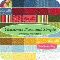 Christmas Pure and Simple is Nancy Halvorsen's newest Christmas line for 2014.  Fabric will be available May 2014.