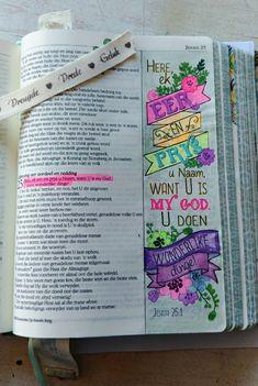 Jes.25:1 Christening Quotes, Bible Art, Afrikaans, Art Journaling, Bullet Journal, Words, Art Diary, Performing Arts, Horse