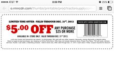 tractor supply printable coupons 2019