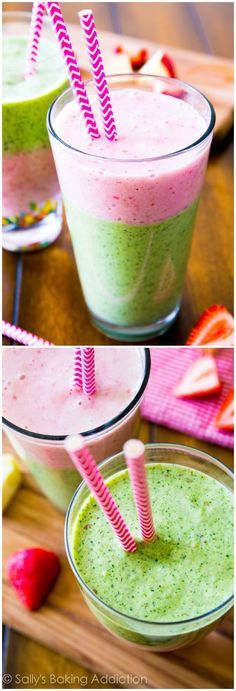 A slim-down fruity green smoothie with no added sugar and tons of staying power! Refreshing and simple.