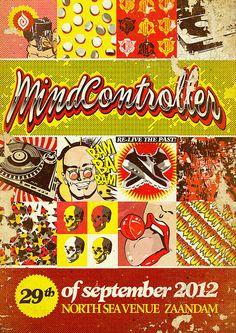 Grafisch ontwerp van Dutchaholic voor Mindcontroller. Artwork - Comic design - Retro - Stripboek