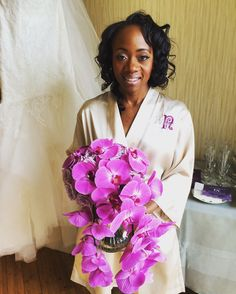 Beautiful Bride with Orchid Bouquet | Purple Wedding Decor | Nchang + Daniel Wedding | The Westin Georgetown Hotel Wedding | Wedding Photography | DC Wedding | Wedding Planning by Favored by Yodit Events | DC Wedding Planner | Purple Wedding | Luxe Wedding | African Wedding
