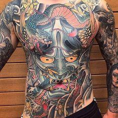 Japanese Tattoo by Ryan Ussher JapaneseTattoos JapaneseTattoo BoldTattoos ColorfulTattoos RyanUssher