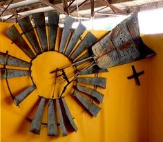 Windmill Wall Art awesome antique windmill blades as unique rustic decor. | for the