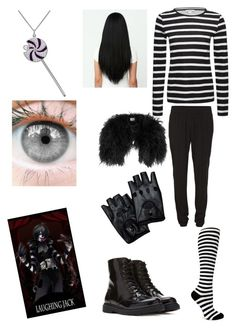 """Laughing Jack Creepypasta outfit"" by ender1027 ❤ liked on Polyvore featuring Whistles, VILA, Sock It To Me, Forever 21 and Simone I. Smith"