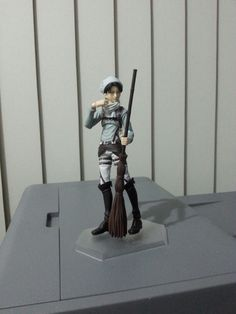 Cleaning Levi Figma atop my dusty printer!