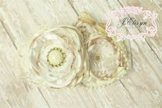 ivory gold vintage handmade flower headband  by JElisynBoutique, $25.00