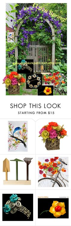 """""""I Love Spring!"""" by diana-32 ❤ liked on Polyvore featuring Internoitaliano, Ballard Designs and vintage"""