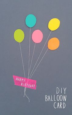 BIRTHDAY: diy Balloon card. Charlotte love