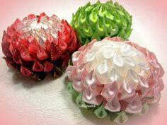 Цветы канзаши из узкой ленты 1,2 см, МК - YouTube