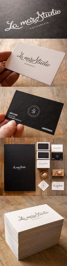 Elegantly Simple Black And White Typographic Business Card For A Photographer #black #business #card