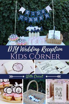 DIY Wedding Reception Kids Corner with Cricut #MyCricutStory
