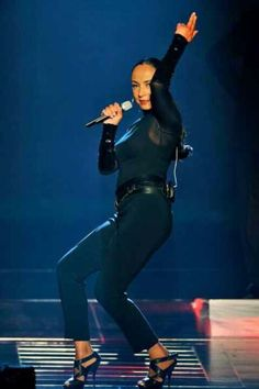 Sade in 2011, still a force to be reckoned with.  Amazing singer, great band, total package with style and class.