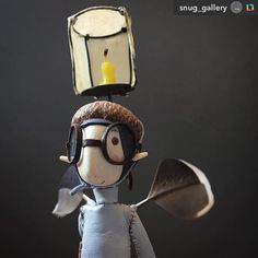 Love this image! 'Illumination Helmet' ======> @snug_gallery:Friday morning greetings from another of our delightful @sbrainy Fairies currently keeping us company at the Gallery.  We've had a dusting of snow overnight here in #HebdenBridge so it's a case of keeping cosy warm today, snug you might say.. #fairies #samanthabryan #brainsfairies #fairyrehoming #collectandcurate #pursuepretty #makersmovement #original #detail #fairyportraits #sculpture #makers #handmade #contemporarycraft #gallery…
