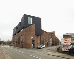 Steel cladding with red brick
