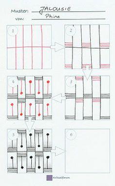Mein neues Muster JALOUSIE | Zendoodle-Wege