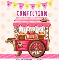 Truck with sweets, holiday decoration