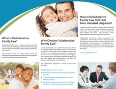 Inside of a Tri-Fold Brochure for a Collaborative Family Law Association in Waterloo - Wellington, Ontario. Part of the www.danipa.com Graphic Design Portfolio