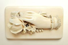 Victorian Hand Carved Ivory Paperweight