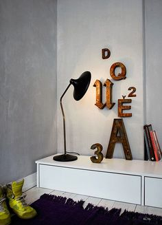 DIY letters for the wall http://decor8blog.com/2013/01/18/stylist-peter-fehrentz/