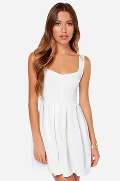 Others+Follow+Parallel+Ivory+Dress+at+LuLus.com!